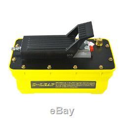 10000PSI Air Hydraulic Foot Pedal Pump Air Powered Hydraulic Pump Pneumatic 2.3L
