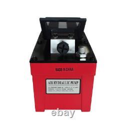 10000PSI Air Hydraulic Foot Pump 98 Cubic Aluminum Shell Single Acting
