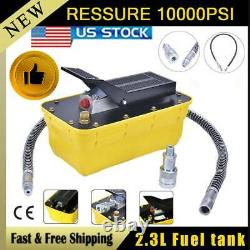 10,000PSI Air Hydraulic Foot Pedal Pump Auto Body Frame Pneumatic Machines 2.3L