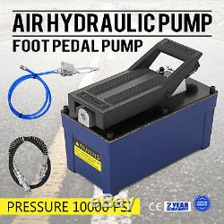 10,000 PSI 10 Ton Power Hydraulic Air Foot Pump Control Lift 120PSI