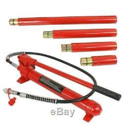 10 Ton Porta Power Air Pump Autobody Frame Repair Hydraulic Jack Tool Kits