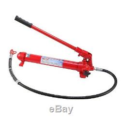 10 Ton Porta Power Hydraulic Jack Air Pump Lift Ram Body Frame Repair Tool Kit