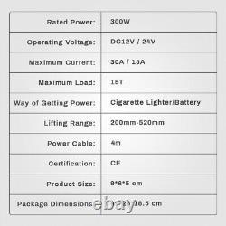 12V 15T Electric Hydraulic Floor Jack Car Air Pump Inflator 200mm-520mm