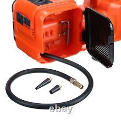 12V 5 Ton Car Electric Hydraulic Floor Jack Lift Air Compressor Pump 135-360mm