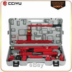 1 Set New Red 10 Ton Hydraulic Jack Body Frame Repair Air Pump Autobody Tool Kit