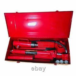 20 Ton Hydraulic Jack Air Pump Lift Porta Power Ram Repair Tool Kit