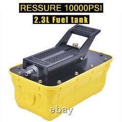 2.3L 10,000PSI Air Hydraulic Foot Pedal Pump Auto Body Frame Machine Pneumatic