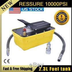 2.3L Air Hydraulic Foot Pedal Pump 10,000PSI Auto Body Frame Machines Pneumatic