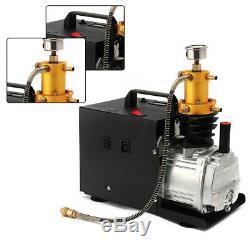 300BAR 30MPA 4500PSI High Pressure Air Compressor PCP Airgun Scuba Air Pump 220V