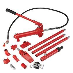 4 Ton Hydraulic Air Pump Lift Porta Power Ram Body Shop Repair Tool Set Kit