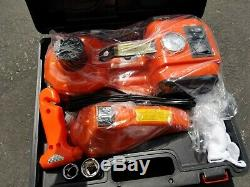 4 in 1 12V DC 5T 11023lb Electric Hydraulic Floor Jack Inflating Air Pump Impact