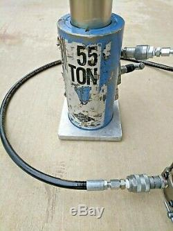 55 Ton Aluminum Jack Myers 52087 / Imt 51712504 And Air/hyd 10,000psi Pump Used