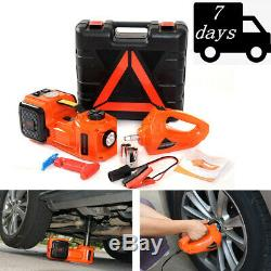 5T/11023lb Car Electric Hydraulic Jack Air Pump Electric Wrench Set Repair Tools