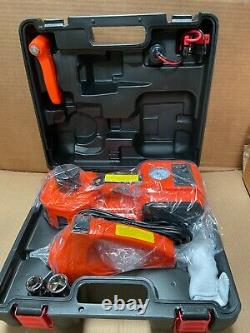 5T 12V 3-in-1 Car Electric Hydraulic Floor Jack Lift With Impact Wrench Air Pump