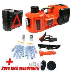 5T Auto Electric Hydraulic Floor Jack Lift Air Compressor Pump 135-360mm 12V DC