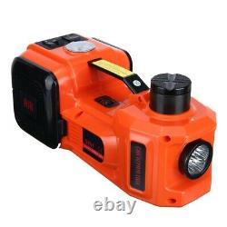 5T Car Electric Hydraulic Floor Jack Lift 12V Air Compressor Pump Tool 135-360mm