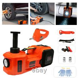 5T Electric Hydraulic Jack&mpact Wrench Repair Kit Lift 45cm With Air Pump LED