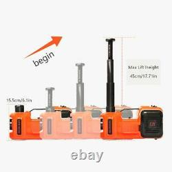 5Ton 3in1 Car Electric Floor Jack Hydraulic Lift Air Pump With Impact Wrench Set