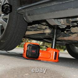 5Ton Car Electric Floor Jack Hydraulic Floor 12V DC Tire Inflator Air Pump Tool
