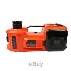 5 Ton Car Jack Lift 12V 5T Electric Hydraulic Floor Jack LED Air Pump Repair KIT