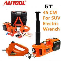 5 Ton Electric Jack Hydraulic Lifting Jack Air Pump Electric Wrench Set 45cm