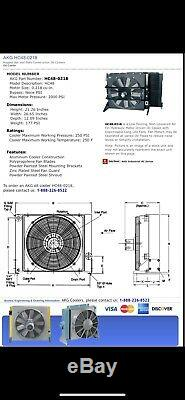 AKG HC48 0218 Forced-Air Oil Cooler Hydraulic Driven