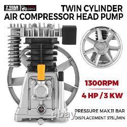 Air Compressor Pump 3HP Aluminum 1300/min 160PSI Single Stage 2 Cylinder 12CFM