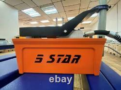 Air Foot Pedal Hydraulic Pump Auto Body Frame Machines Shop Press Hose Coupler