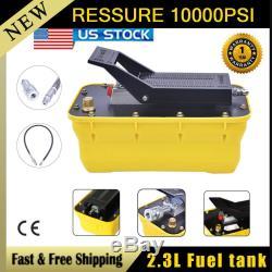 Air Hydraulic Foot Pedal Pump10,000PSI AutoBody Frame Machines Pneumatic 2.3LFIN