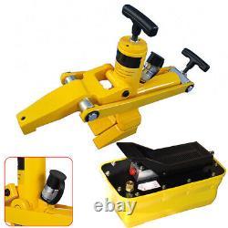 Air Hydraulic Foot Pedal Pump 1/4NPT Air Hydraulic Jack Pump Rotary Lift 2.3L