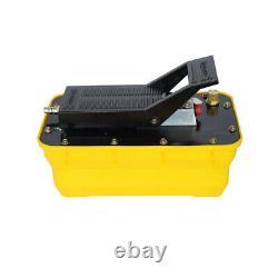 Air Hydraulic Foot Pump 10,000 PSI Adjustable Pressure 1/2 gal 2.3L 1/4NPT Hot