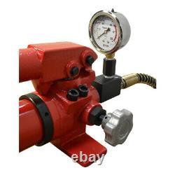 Air Hydraulic Hand Pump Pressure Gauge 72 Hose Coupler MH3 Manual 10,000 PSI