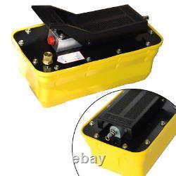 Air Hydraulic Jack Pump Rotary Lift Air Foot Pedal Pump 0.75-0.95/Lmin 10000PSI