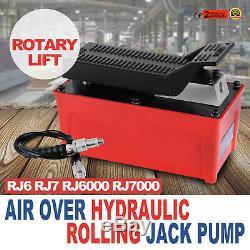 Air Hydraulic Pump 10000 PSI 1/2 Gal Reservoir Hydraulic Foot Pump Good