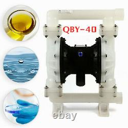 Air-Operated Double Diaphragm Air Poly Pump Chemical Industrial 1.5in 35.2GPM