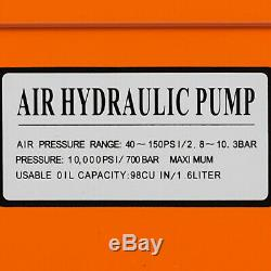 Air Powered Hydraulic Foot Fedal Power Pump 10,000 PSI Rubber Auto Repair Quick