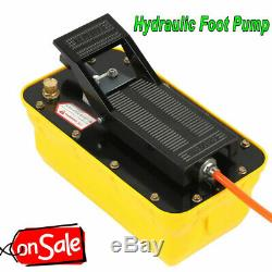 Air Powered Hydraulic Foot Pedal Pump10,000 PSI For Auto Body Frame Machine 2.3L