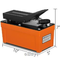 Air Powered Hydraulic Foot Power Pump 10,000 PSI Unit Hydraulic Auto Repair