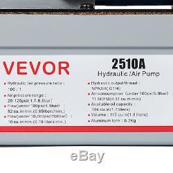 Air Powered Hydraulic Foot Pump 2510A Power Release Pressure Auto Repair