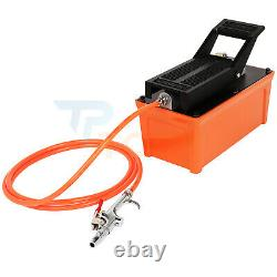 Air Powered Hydraulic Pump 1.7L Foot 10000 PSI Reservoir with Hose & Coupler