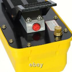 Auto Hydraulic Air Foot Pump 10000psi Rotary Lift Release Pressure 3/8 NPT Top