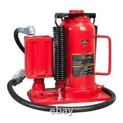 Big Red Air Hydraulic Bottle Jack 20 Ton Manual Hand Pump Automotive Car Lifting