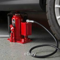 Big Red TOR-TA92006 Pneumatic Air Hydraulic Bottle Jack with Manual Hand Pump, Red