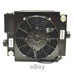 COOL-LINE D10-12-BP65 Forced-Air Bypass Oil Cooler, 65PSI, 5A