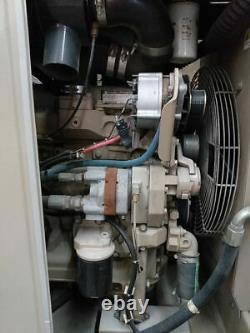 CompAir LeRoi Skid Mounted 185 cfm Air Compressor with Aux Hydraulic Pump 937 hrs