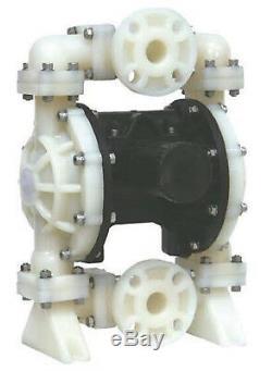 Diaphragm Air Pump Teflon Polypropylene 1.50 NPT Double Diaphragm Teflon