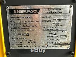 ENERPAC PAM1022 Pneumatic AIR HYDRAULIC PUMP- SINGLE ACTING 10000psi