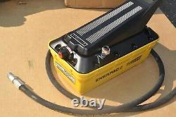 ENERPAC PATG-1102N TURBO II HYDRAULIC PUMP 3 WAY VALVE TREADLE w hose