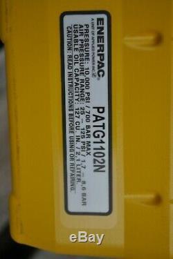 ENERPAC PATG-1102N TURBO II HYDRAULIC PUMP WithGAUGE & 15 FT HOSE & coupler set