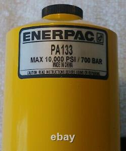 ENERPAC PA-133 Air Powered Hydraulic Pump Capacity PSI 10,000 with Hose. DEMO